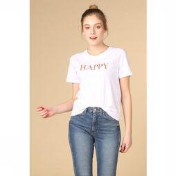 B.Young T-Shirt Bytuttami Happy Blanc