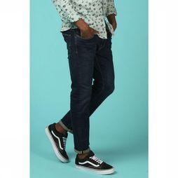 Selected Jeans Shnslimleon Donkerblauw