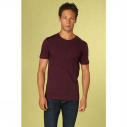 Minimum T-Shirt Luka Bordeaux/Donkerblauw