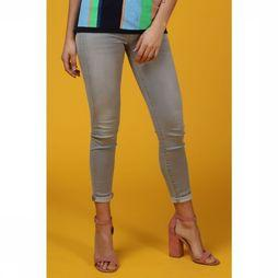 Selected Jeans Sf Elena Mr Cropped Lichtgrijs