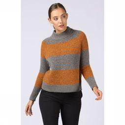 Selected Pull Slf Isabella Ls Knit Highneck Bronze/Gris Clair Mélange