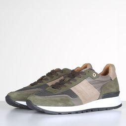 Selected Sneaker Frank Mix Runner W Donkerkaki