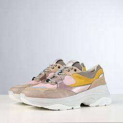 Selected Sneaker gavina Trainer B Rose Clair/Jaune Moyen