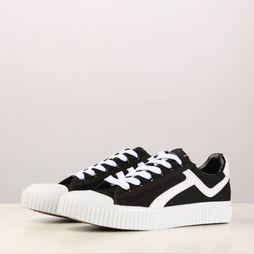 Selected Sneaker Ferica Canvas Trainer Noir/Blanc