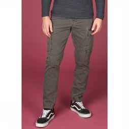 Selected Broek taperedbrock Donkerkaki