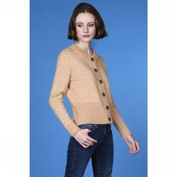 Selected Cardigan Sia Ls Knit Brun Sable