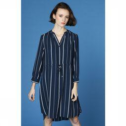 Selected Jurk Damina Donkerblauw/Wit