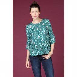 Yas T-Shirt greenish Peplum Middengroen/Assortiment Bloem