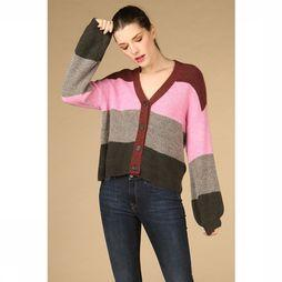 Yas Cardigan Clock Knit Mfd Middenroze/Bordeaux