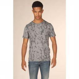 Selected T-Shirt camo Aop Bleu Foncé/Assortiment Camouflage