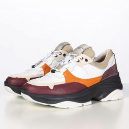 Selected Sneaker gavina Trainer B Blanc/Bordeaux
