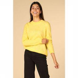 Object Pull Nete Ls Knit O Neck Pullover Seasonal Jaune Moyen