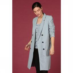 Object Jas Beau Long Coat Seasonal Lichtblauw