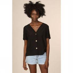 Object Blouse Ellie Ss V Neck Noir