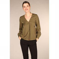 Object Blouse Eileen Ls V Neck Noos Middenkaki