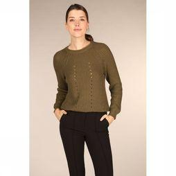 Object Trui Maya Long Sleeve Knit Noos Middenkaki