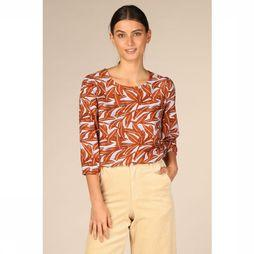 Object Blouse Ori Rose 3/4 Roest/Lichtblauw