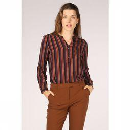 B.Young Blouse gitten Placket Aubergine/Roest