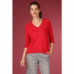 Selected Pull thea 3/4 Knit Vneck Rouge