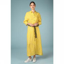 Selected Robe alicia Florenta 3/4 Ankle Dress Jaune/Blanc