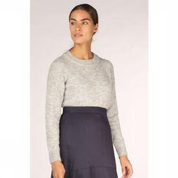 Selected Trui sia Ls Knit O Kneck Lichtgrijs Mengeling