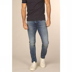 Selected Jeans slimleon Middenblauw