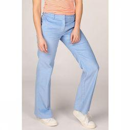 Selected Pantalon Slfemily Mid Waist Flared Corduroy Bleu Clair