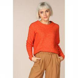 Selected Pull Slfsif Ls Knit O Neck Rouge