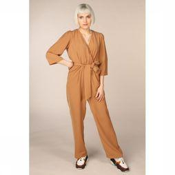 Selected Jumpsuit Slfjill 3/4 Kameelbruin
