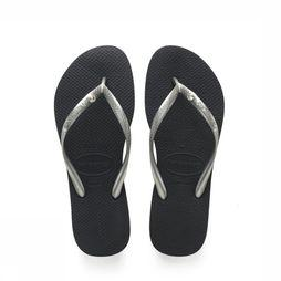 Havaianas Slipper Crystal Glamour Zilver