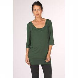 PlayPauze T-Shirt Sartre Tencel Green Middengroen