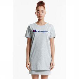 Champion T-Shirt Basic Long Logo Lichtgrijs Mengeling