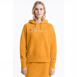 Champion Trui Basic Crew Hooded Logo Middengeel