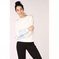 PlayPauze Pull Hug Recto Verso Blue Sleeves Blanc Cassé/Bleu Clair