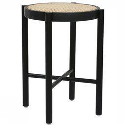 HK Living Chaise Retro Webbin Stool Black Noir