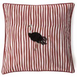 Coussin Ostrich Cushion Striped Gevuld