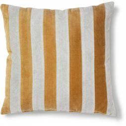 HK Living Coussin Striped Cushion Velvet Grey Gold 50X50 Gris Clair/Or