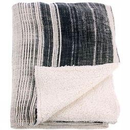 Plaid Striped Fleece Throw
