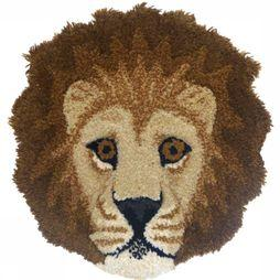 Doing Goods Tapis Moddy Lion Head Jaune Foncé/Brun moyen