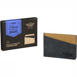 Lederwaren Card Holder Recycled Leather Black&Tan