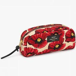 Wouf Textiel Accessoire Makeup Tas Poppy Small Gebroken Wit/Rood