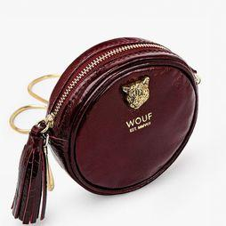 Wouf Tas Burgundy Tiger Circle Bordeaux