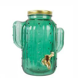 FIS Ustensiles de Cuisine Cactus Green Glass Dispenser Vert