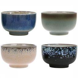 HK Living Keukengerei Ceramic 70's Bowls Set Of 4 Assortiment