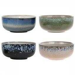 HK Living Keukengerei Ceramic 70's Bowls Medium Set of 4 Assortiment