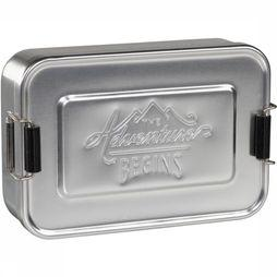 Gentlemen's Hardware Lunchbox Small Silver Aluminium Lunch Tin Zilver