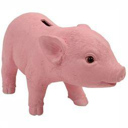 &KLEVERING Servies Coinbank Pig Bank Middenroze