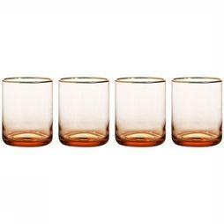 &KLEVERING Servies Waterglass Gold Set Of 4 Middenroze