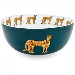 Fabienne Chapot Home Servies Bowl Cheetah 23cm Petrol