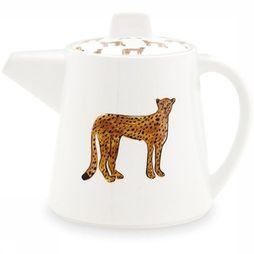Fabienne Chapot Home Servies Teapot Large Cheetah Wit